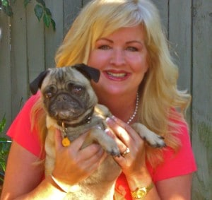 """Carrie Seger Pet Sitter Carlsbad, CA  with """"Walter"""" the wonder Pug"""
